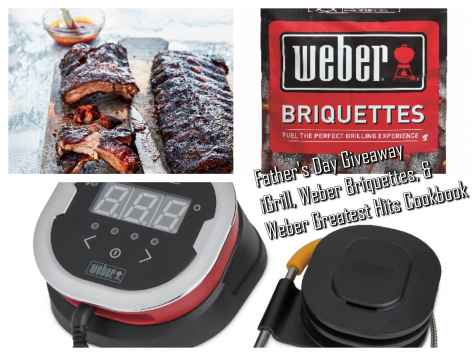 Win $150 in Weber Products iGrill Weber Cookbook and more - MomStart